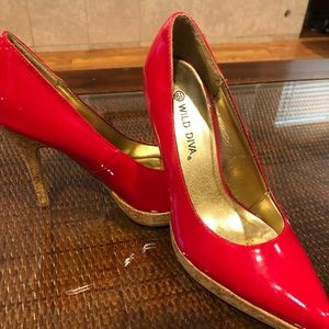 High heels size 6 1/2 Red